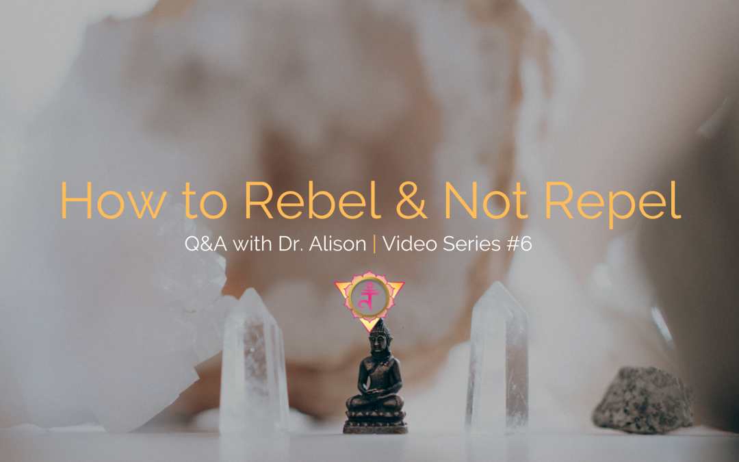 How to Rebel & Not Repel | Q&A with Dr. Alison – Video Series #6